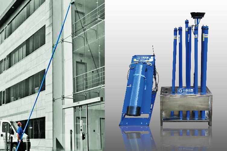 德國雷曼科林純化水高空墻面清洗機
